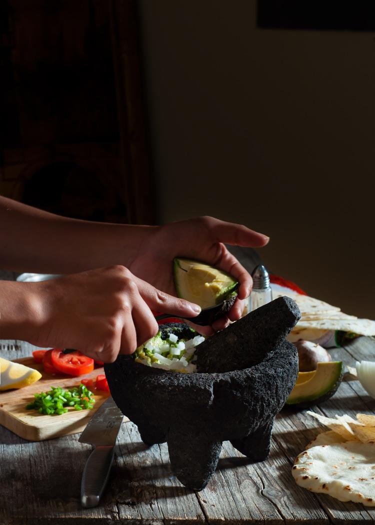 Receta de guacamole casero