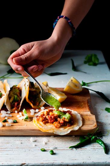 Receta de tacos campechanos de chorizo y bistec
