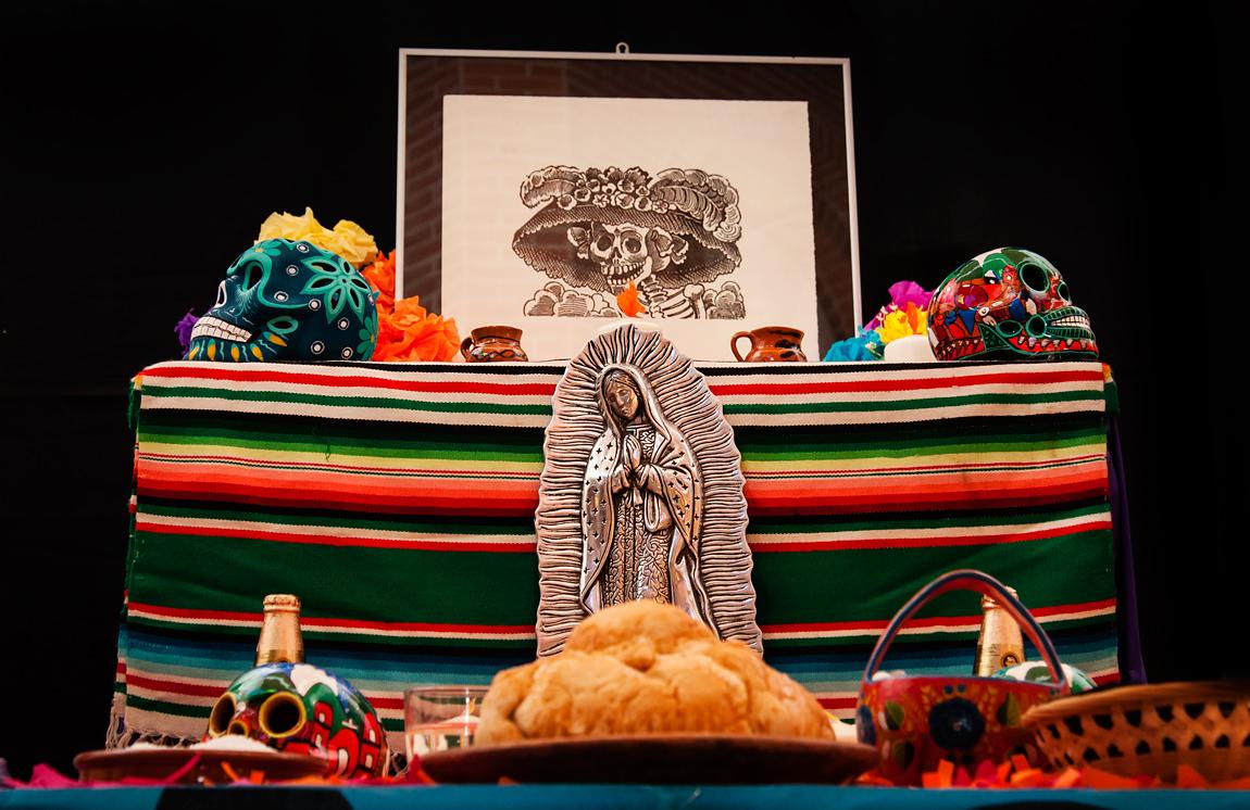 Altar mexicano en Museo América de Madrid