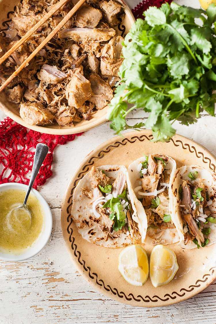 Tacos de carnitas michoacanas