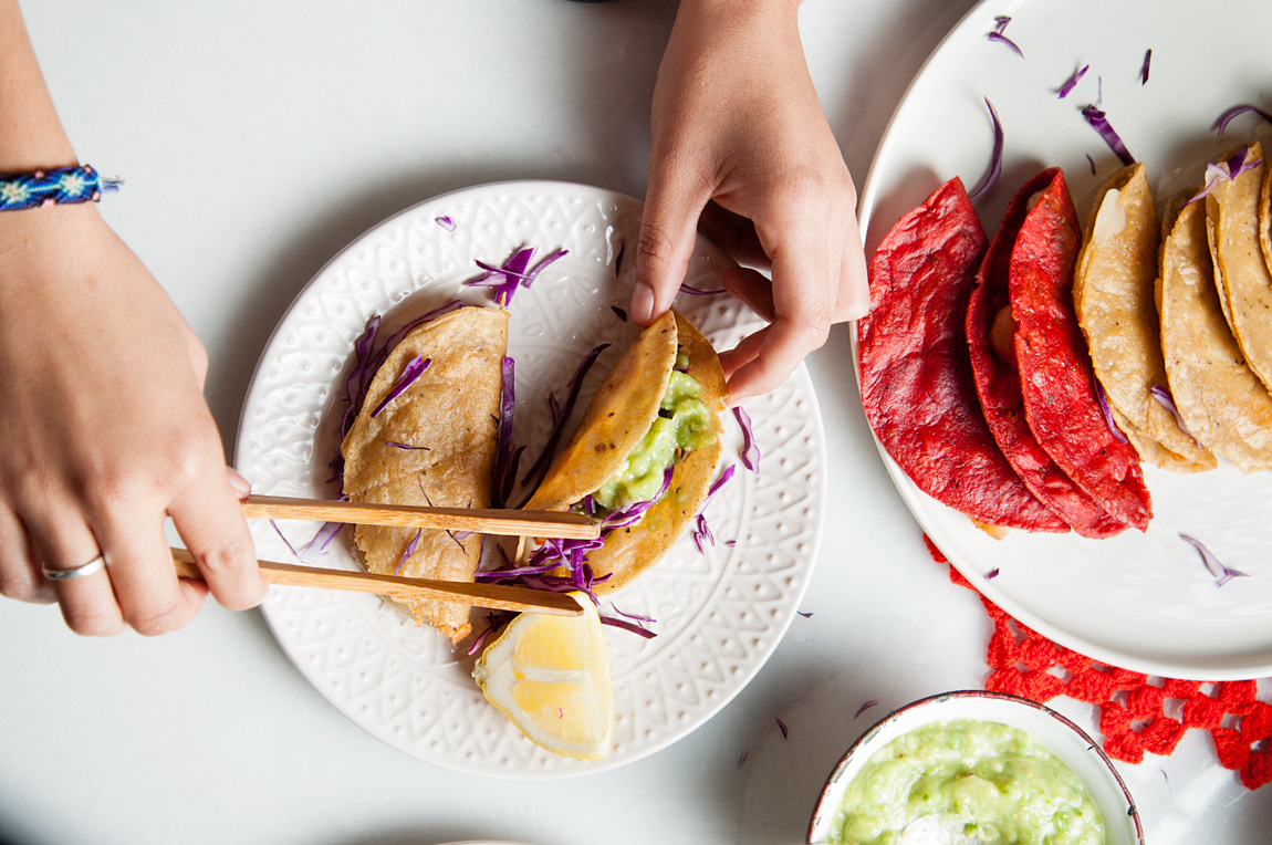 Tacos de camarón crujientes