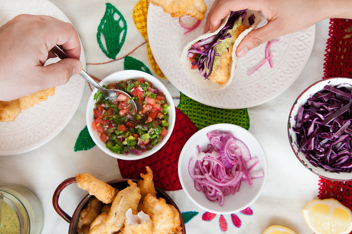 Receta de tacos de pescado estilo Ensenada