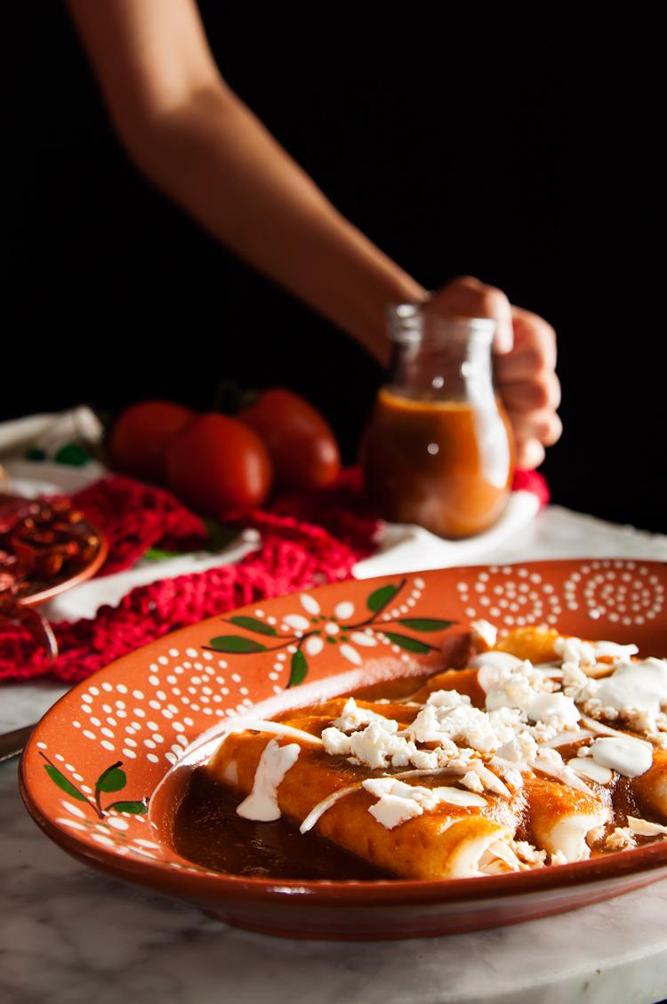 Receta de enchiladas mexicanas