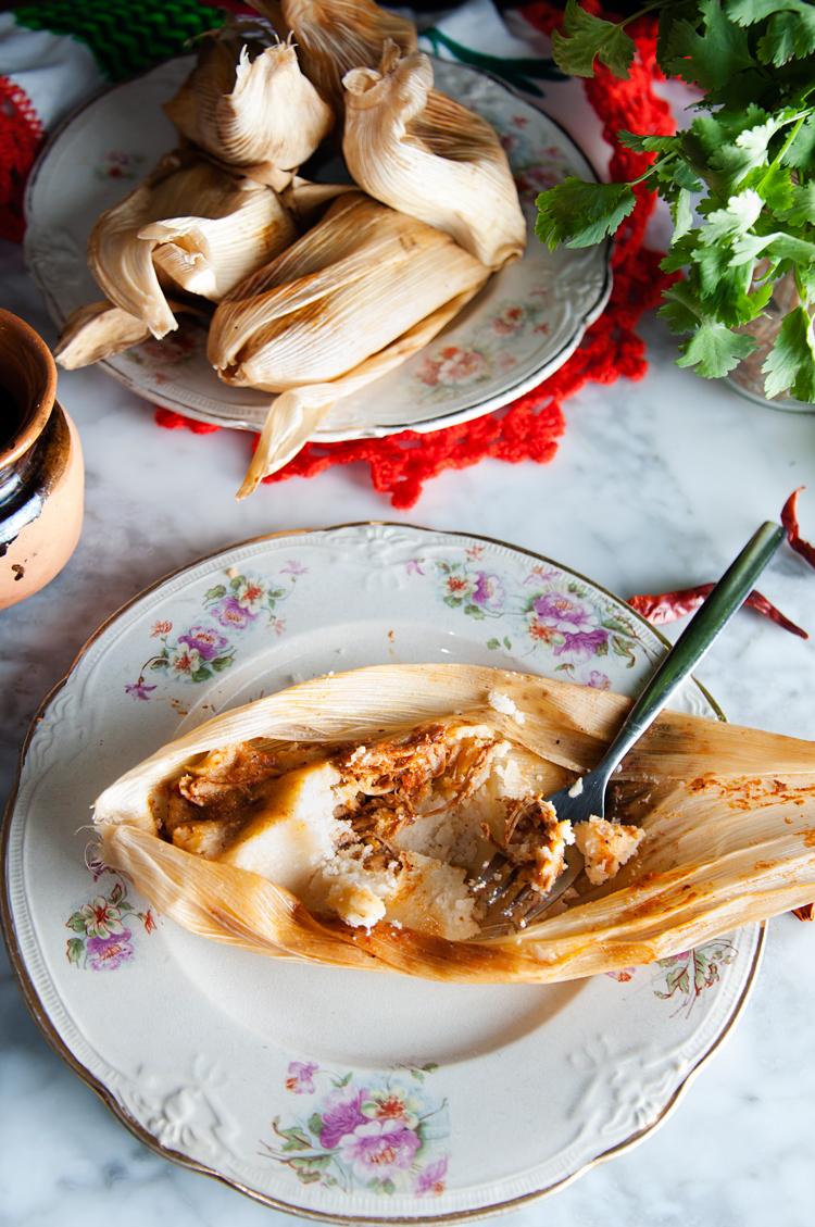 Tamales de pollo mexicanos