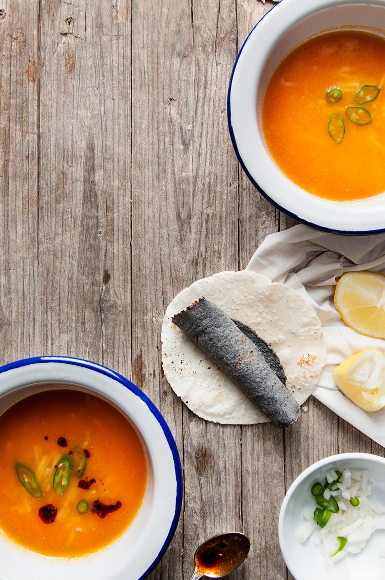Receta de sopa de fideo mexicana