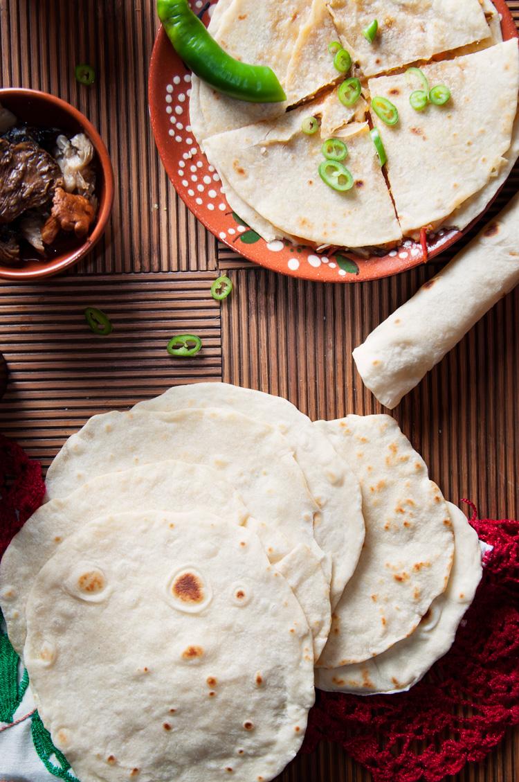 Tortillas de harina o tortillas de trigo