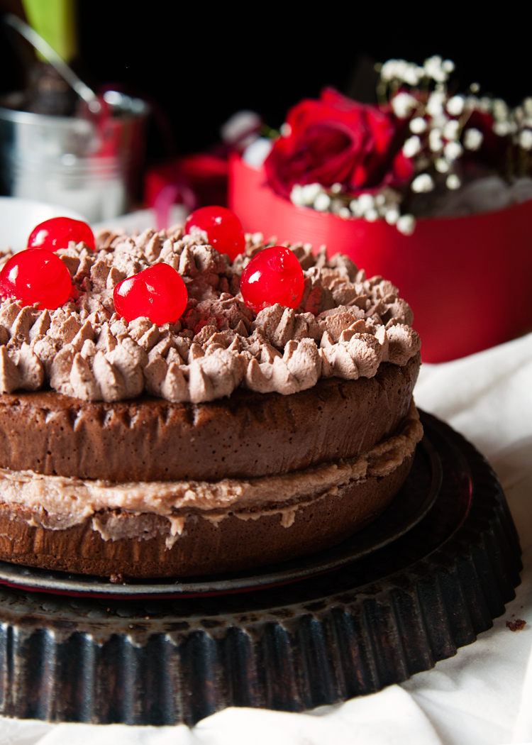 Pastel de chocolate con tres leches.